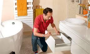 Pose de salle de bains